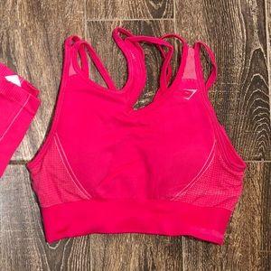 Gymshark Ultra Seamless Pink Bra